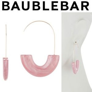 BAUBLEBAR Pink Faidra Resin Drop Earrings